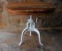 Industrial Rustic Reclaimed Wood Crank Table