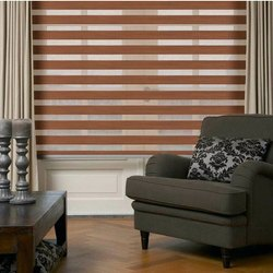 Wood Look Zebra Blinds