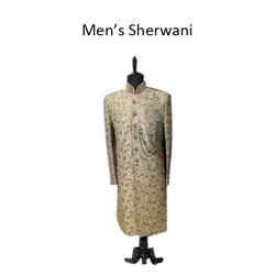 Wedding Wear Embroidered Mens Traditional Sherwani, Size: 34-44