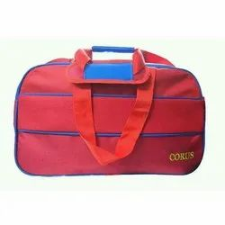Corus Red and Blue Zipper Duffle Bag, for Travel