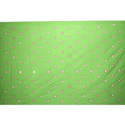 All Over Parrot Green Color Cotton Satin Than