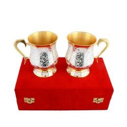 Silver And Gold Silver Plated Royal Beer Mug
