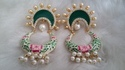 Pbc Hand Painting Chandbali Earring