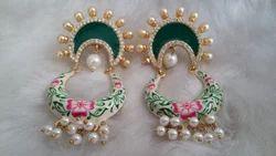 Hand Painting Chandbali Earring