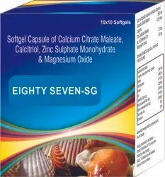 Softgel Capsule of Calcium Citrate Maleate Calcitriol Zinc Sulphate Monohydrate and Magnesium Oxide