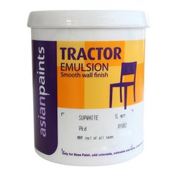 White Asian Smooth Wall Finish Tractor Emulsion Paint, Packaging Size: 20 Liter
