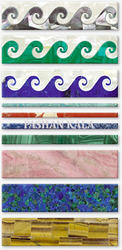 Semi Precious Stone Border Tiles