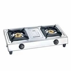 Lakshay Surya Master Flame LPG Two Burner Gas Stove