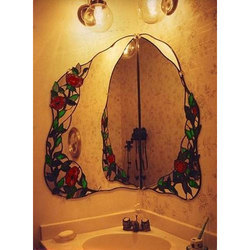Bathroom Stained Glass Mirror