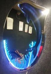 Arvind Sanitary Designer Colour Dolphin LED Mirror With Side Glow LED Effect
