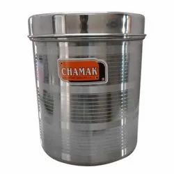 SS Stainless Steel Deep Dibba, Material Grade: SS202, Capacity: 2 To 3 Kg