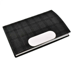 Leatherette Card Holder With Soft Fabric Feel SM102B63