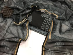 Bagru Hand Block Printed Chanderi Silk Dress Material