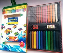 24 Shade Plastic Erasable Crayons, Packaging Type: Packet