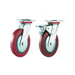 Polyurethane (PU Maroon) Caster Wheels