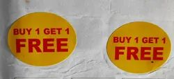 Buy One Get One Printed Sticker Labels