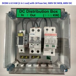 Solar DCDB 1 in 1 Out for 1-3.5 KW DC MCB DC SPD