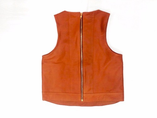 Adel Internatioanl Orange Leather Tops