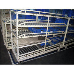 FIFO Storage Rack with Roll Section