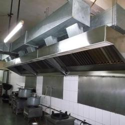 Kitchen Exhaust Hood And Duct