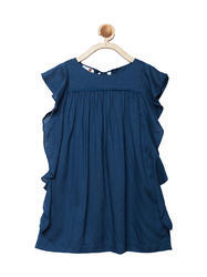 Mid Blue Mini Macaroons Girls Summer Play dress, Age Group: 2-12 Years, Size: 2-12 Years