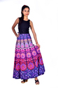 Cotton Multicolor Wrap Around Skirt