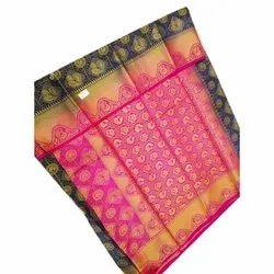 Casual Wear Printed Balatan Saree with Blouse Piece