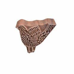 Handmade Bird Pattern Wooden Henna Stamp