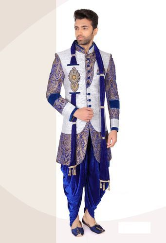 Medium And Large Indo Western Indian Wedding Sherwani V01 Rs 7500