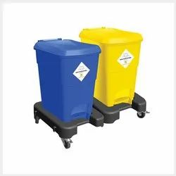 Bio Medical Bin With Trolley 15L