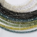 Natural Drilled Diamond Beads Mix Color