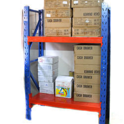 Mild Steel Powder Coated Heavy Duty Storage Rack, For Warehouse