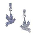 Blue Sapphire Gemstone Bird Pendant