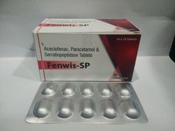 Aceclofenac 100mg, Paracetamol 325mg, Serratiopeptidase 15 mg
