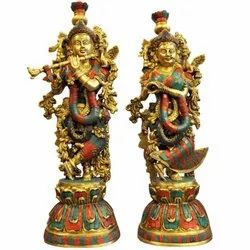 Brass Handicraft Items Krishna Statue