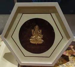 Polished Mango Wood Wooden Frame Gold Leaf Plated
