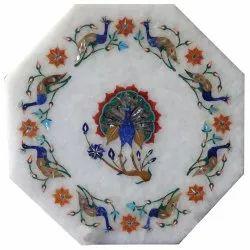 Marble Beautiful Inlay Table Tops, Stone Inlay Coffee