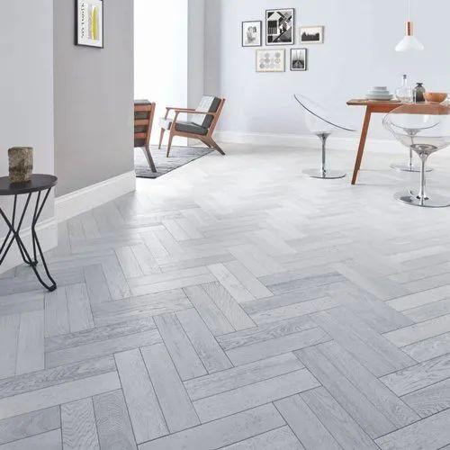 Florence Floor Brown Grey Herringbone