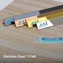 SS 304 Inlay Patti Profile T Sections in Stainless Steel