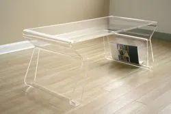 Rectangular Acrylic Center Table, Warranty: 5 Year