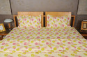 Light Green Cotton Floral Printed Bedding Set