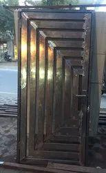 Standard black jali door mild steel, Single, Material Grade: 18 Gyage