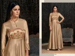 Indo Western 4 color Wedding Wear Gown, Net Design