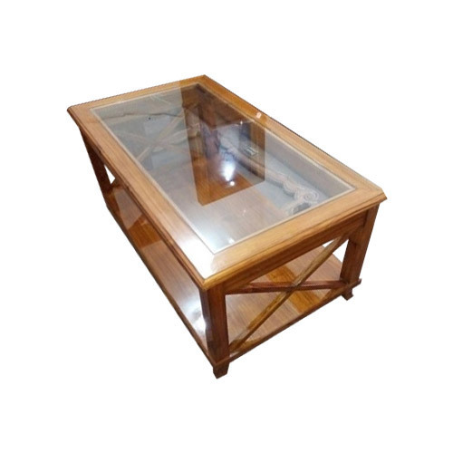 Bon Glass Wooden Table