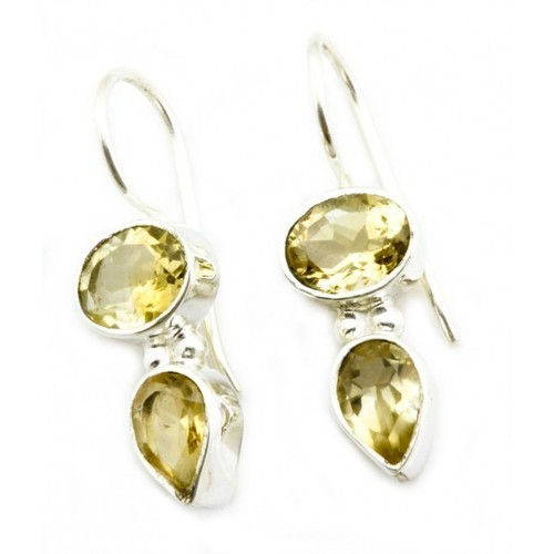 Sterling Silver India Citrine Earring