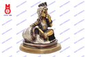Lord Krishna Sitting Statues with Pot