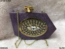 Purple Box Clutch