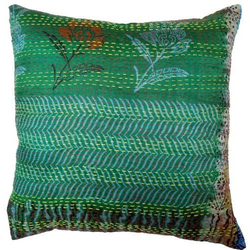 Indian Kantha Silk Cushion Covers