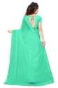 Georgette Fashion Arrival  Stone Work Turquoise Color Saree