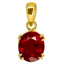 Ruby Locket Men and Women Asthdhatu Gemstone
